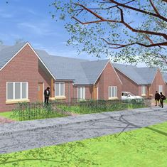 Picture showing artist's impression of the bungalows.