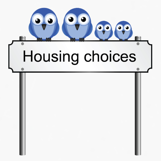 Image of a street sign stating Housing Choices