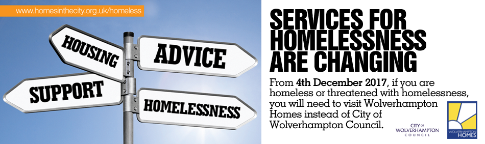 Image stating services for homelessness are changing